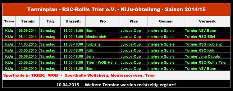 14-15 - Termine-KiJu-RSC-Rollis Trier