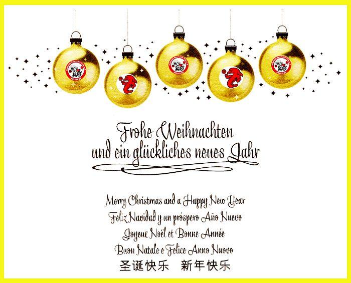 Frohe Weihnachten und alles Gute im Jahr 2013